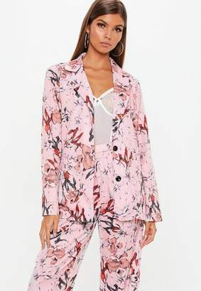 Missguided Pink Floral Collared Shirt