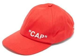 Off-White Off White Logo Print Cotton Cap - Mens - Red