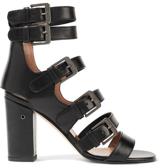 Laurence Dacade - Dana Buckled Leather Sandals - Black $930 thestylecure.com
