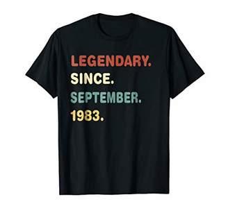 Legendary Since September 1983 Vintage 35th Birthday Shirt