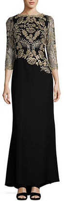 Tadashi Shoji Textured Fit-and-Flare Dress $519 thestylecure.com