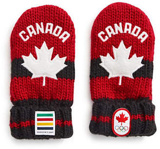 CANADIAN OLYMPIC TEAM COLLECTION Infant Red Mittens