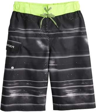 ZeroXposur Boys 8-20 Galactic Stripe Swim Trunks