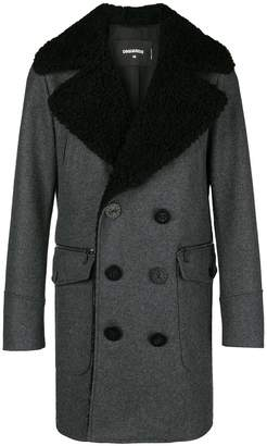 DSQUARED2 double-breasted fitted coat