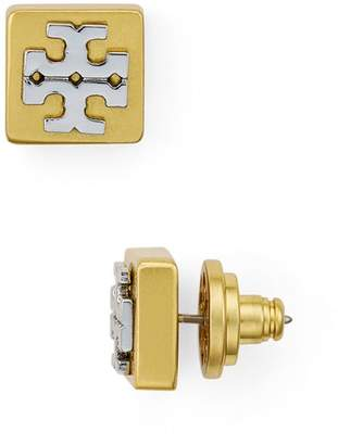 Tory Burch Logo T Block Stud Earrings