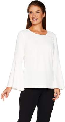 Linea By Louis Dell'olio by Louis Dell'Olio Crepe Top with Flounce Sleeves