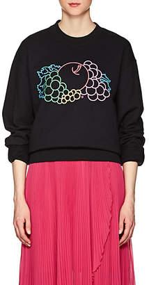 Cédric Charlier Women's Logo Cotton Fleece Sweatshirt - Black