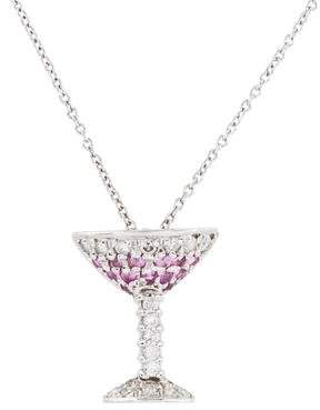 Roberto Coin 18K Martini Glass Necklace