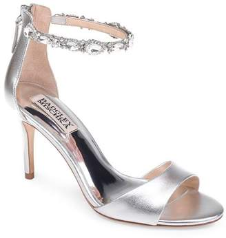 Badgley Mischka Women's Sindy Leather Embellished Ankle Strap High-Heel Sandals