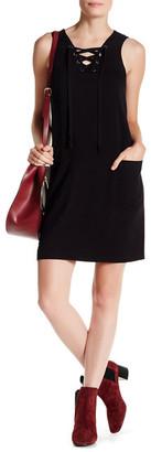 Kensie Lace-Up Shift Dress $88 thestylecure.com