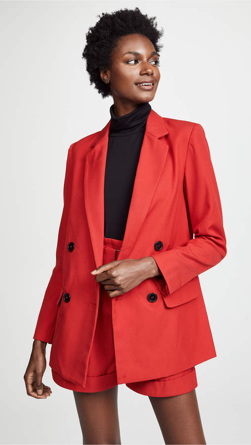Red Suiting Blazer