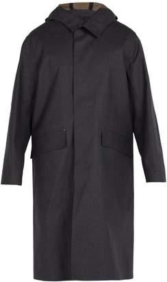 MACKINTOSH Hooded bonded-cotton overcoat