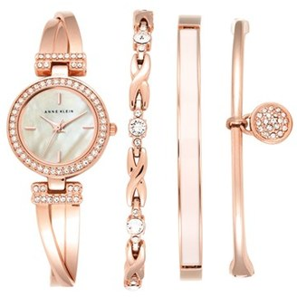 Women's Anne Klein Boxed Bracelet & Bangle Watch Set, 24Mm $175 thestylecure.com