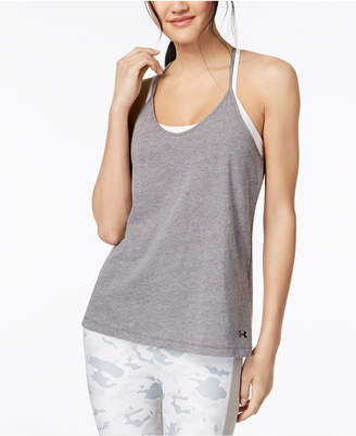 Under Armour Charged Cotton Skinny Racerback Tank Top