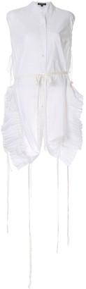 Ann Demeulemeester pleated inserts shirt