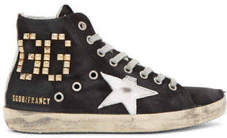 Golden Goose Black Canvas Studded Francy Sneakers