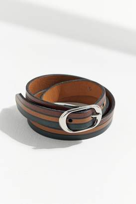Urban Outfitters Striped Leather Belt