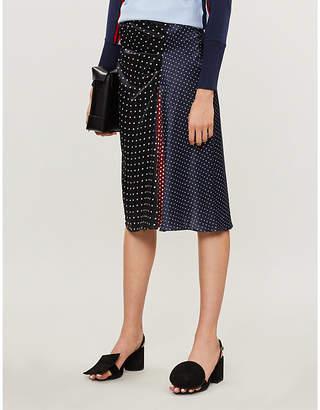 Sportmax Sabrina panelled polka dot silk skirt