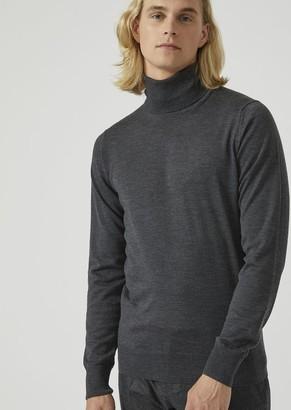 Emporio Armani Turtleneck Sweater In Pure Virgin Wool