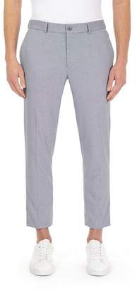 Burton Mens Cropped Skinny Fit Puppytooth Trousers
