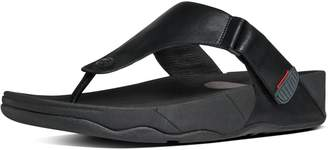 FitFlop TRAKK II TM Men's Leather Flip-Flops