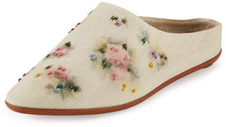The Row Bea Painted Canvas Slipper