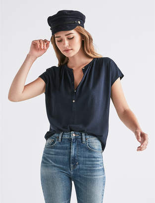 Lucky Brand SHORT SLEEVE SHADOW STRIPE TOP