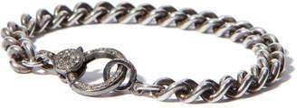 Sheryl Lowe Chain Bracelet with Pave Clasp
