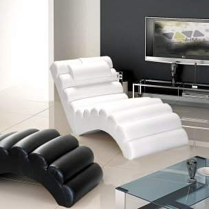 Orren Ellis Dariell Faux Leather Chaise Lounge Orren Ellis