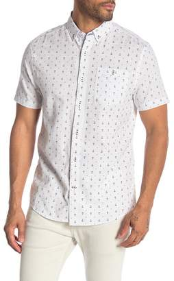 Report Collection White Ground Anchor Print Short Sleeve Shirt