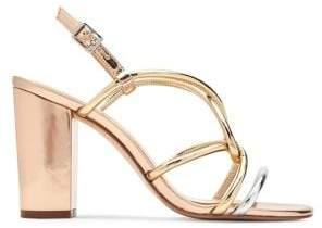 Katy Perry Kendra Caged Metallic Block Heel Sandals