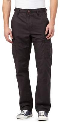 Red Herring Dark Grey Straight Cargo Trousers