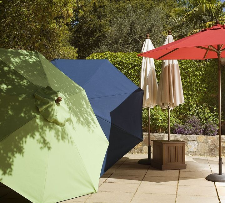 Round Market Umbrella - Solid