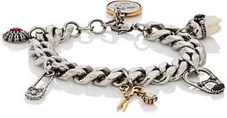 Alexander McQueen Men's Multi-Charm Bracelet - Silver