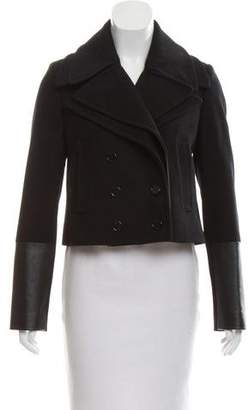 Neil Barrett Leather-Accented Wool Jacket w/ Tags