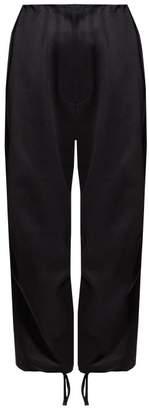 The Row Attie Cotton Sateen Wide Leg Trousers - Womens - Black