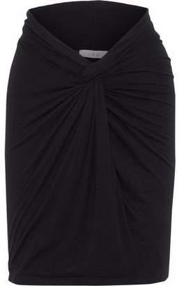 IRO Gathered Jersey Mini Skirt