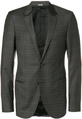 Lanvin fitted checked print jacket