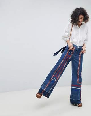 Intropia Ribbon Tape 70s Jeans