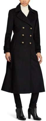 Women's Lauren Ralph Lauren Double Breasted Long Coat $360 thestylecure.com