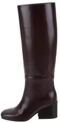 Hermes Knee-High Round-Toe Boots