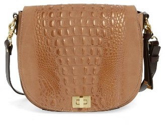 Brahmin 'Wilmington Sonny' Nubuck Leather Crossbody Bag - Metallic $315 thestylecure.com