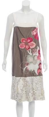 Dries Van Noten Sequined Floral Midi Dress w/ Tags