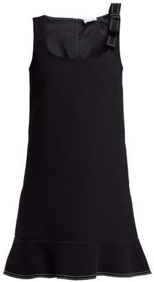RED Valentino Bow Cady Mini Dress - Womens - Navy