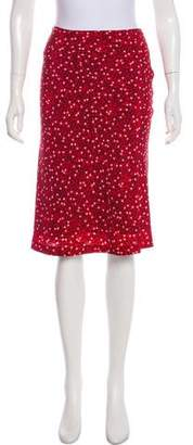 Tuleh Silk Printed Knee-Length Skirt