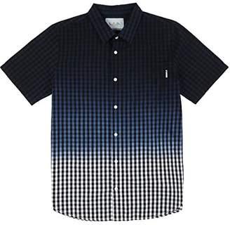 Lrg Men's Jamrock Dip Dye Short Sleeve Woven Shirt
