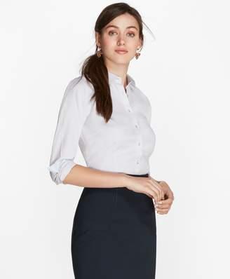 Brooks Brothers Petite Non-Iron Tailored-Fit Chevron Dobby Cotton Poplin Shirt