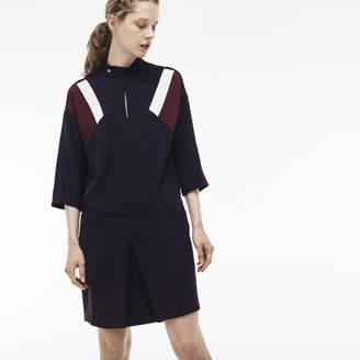 Lacoste (ラコステ) - カラーブロック クレープドレス (七分袖)
