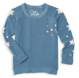 Chaser Little Girl's & Girl's Star Print Sweatshirt