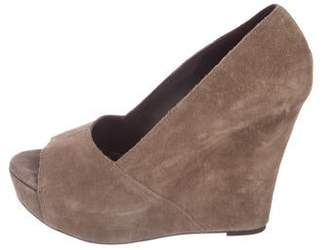 Elizabeth and James Suede Platform Wedges